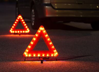 Emergency Roadside Flashing Triangle Kit