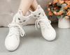 Image of Leather Cat Heads High Top Shoes
