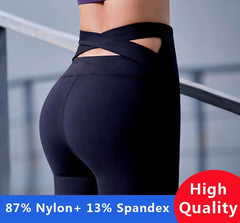 Black Strap Yoga Pants
