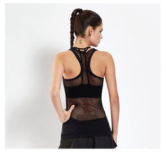 Sexy Hollow Out Breathable Gym Top