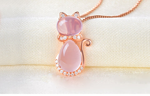 Rose Gold  Crystal Jewelry Set