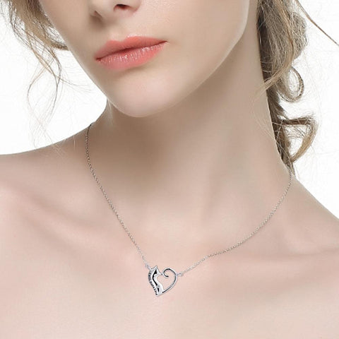 Faith Hope Love 925 Sterling Silver Cat Necklace