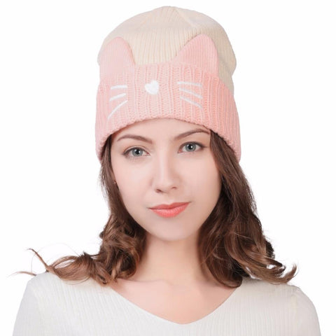 Knitted Beanies Cat Ear Winter Hat