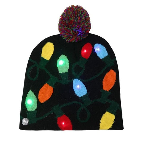 LED Knit Christmas Beanies