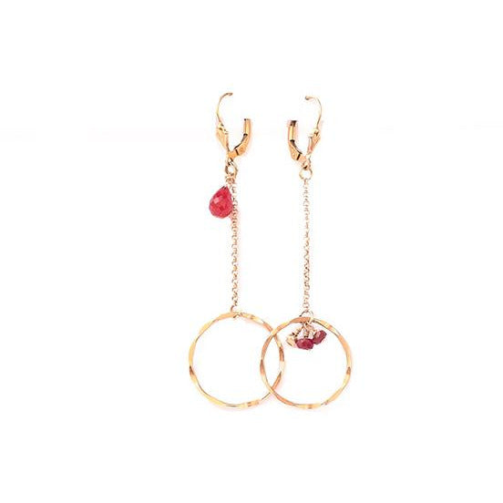Chrysa & Ruby Earrings