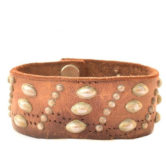 Vintage Leather One of a Kind Studded Cuff