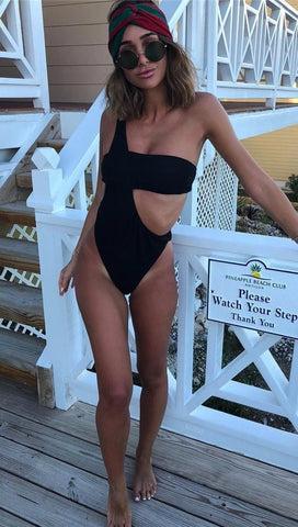 Alandra One Shoulder Asymmetrical Monokini