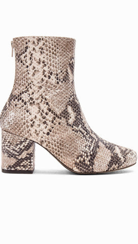 Free People Cecile Ankle Boots Taupe Snake