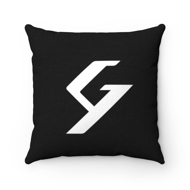 Spun Polyester Square Pillow Black