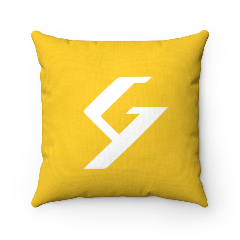 Spun Polyester Square Pillow Yellow