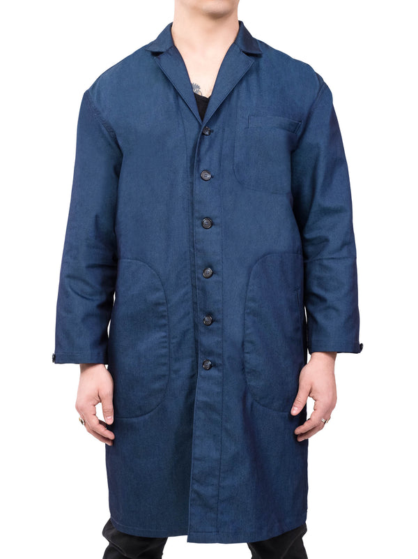 Atlas Trench Coat Blue
