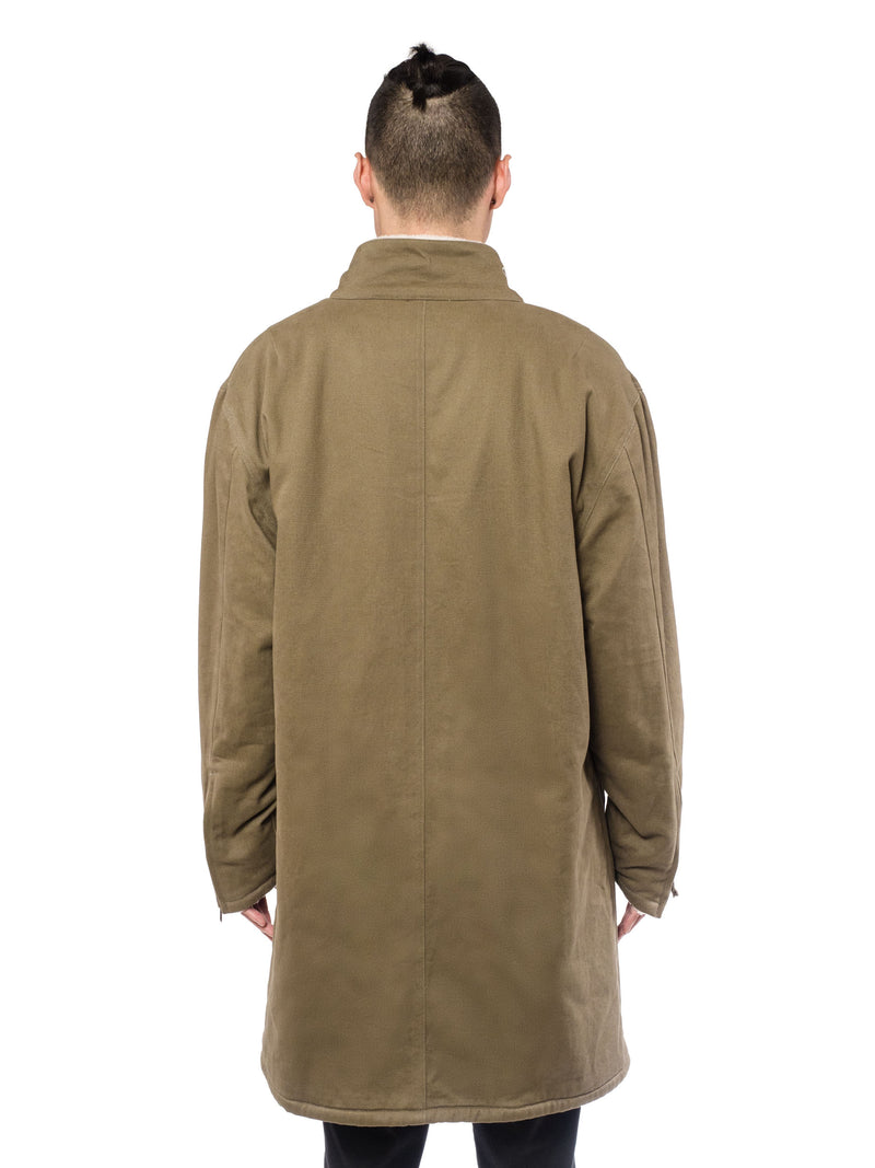 Wester Olive Twill Coat