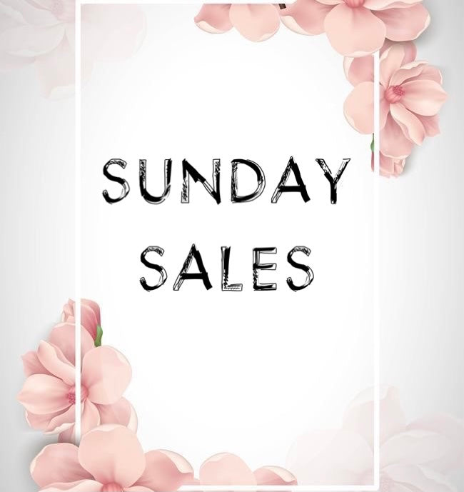SUNDAY SALE