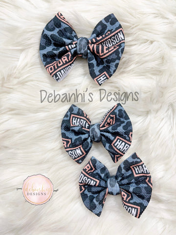 Black Cheetah Harley bow