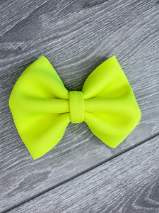 Neon Yellow Bow