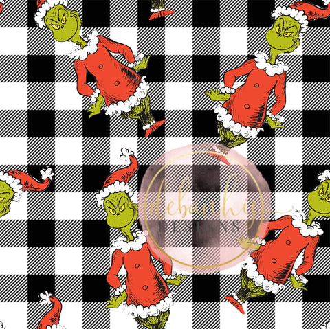 Mr Grinch Headwrap/Top Knot