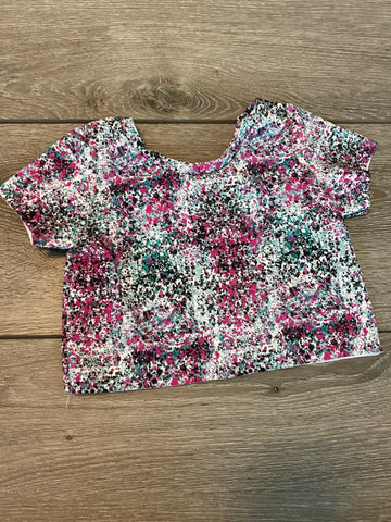 Retro Splatter Crop Top
