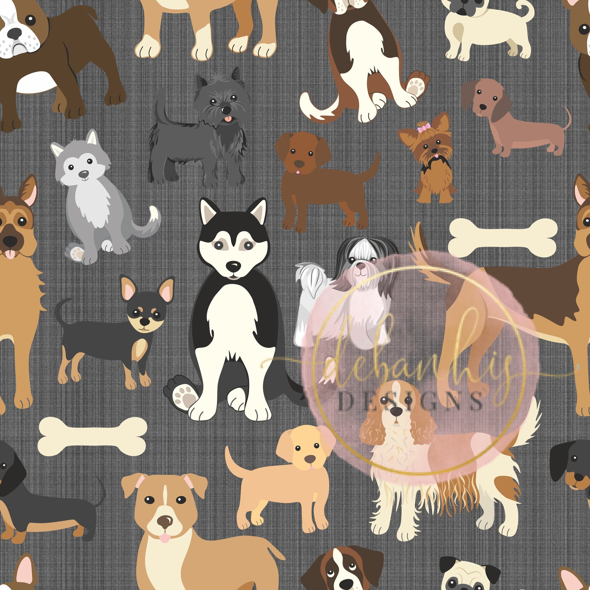dogs gray background headwrap