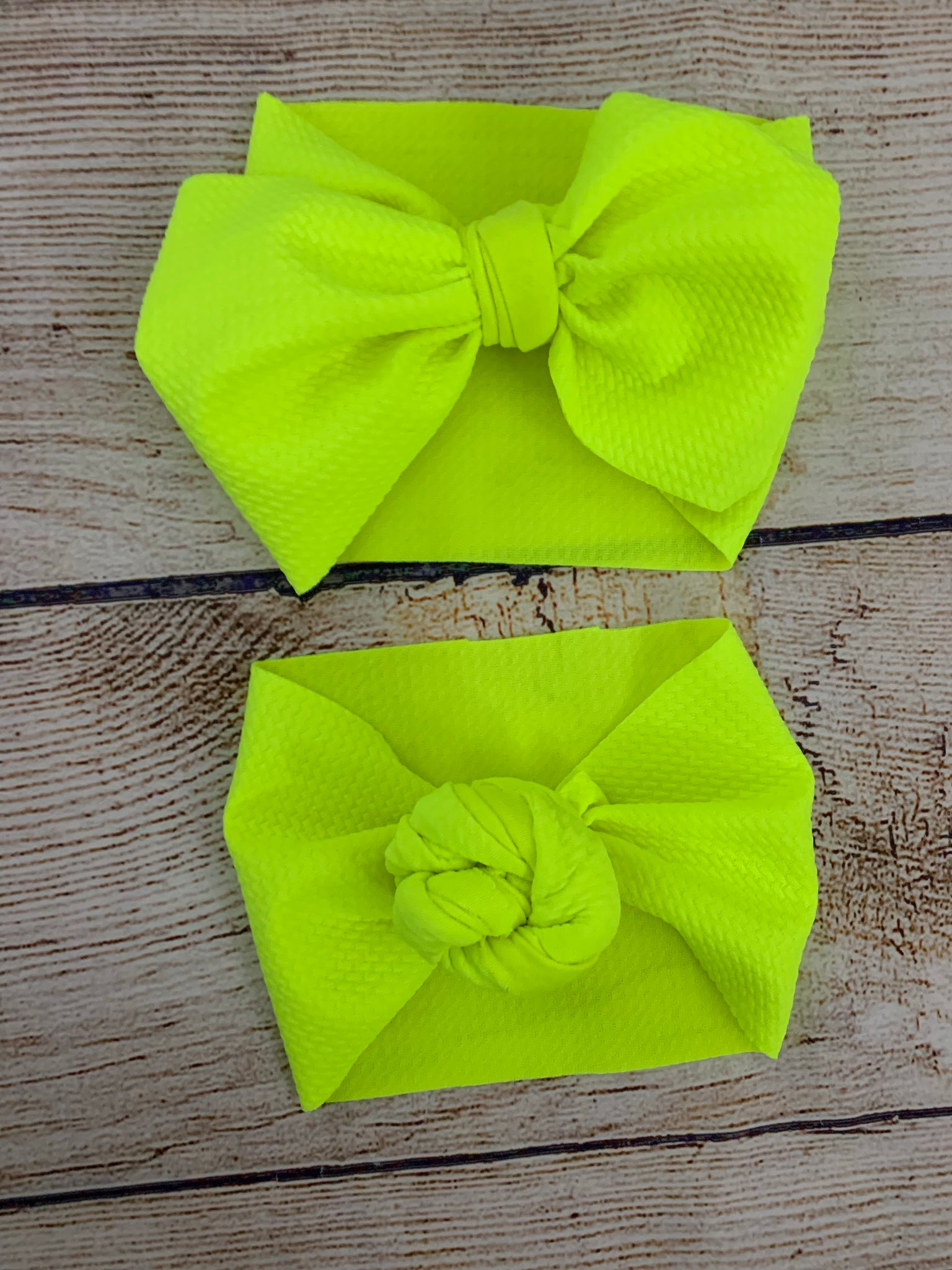 Neon yellow headwrap