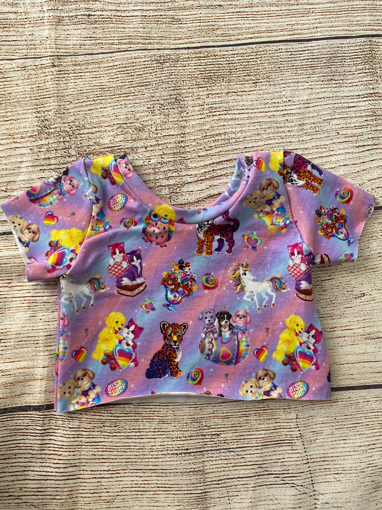 Lisa frank crop top