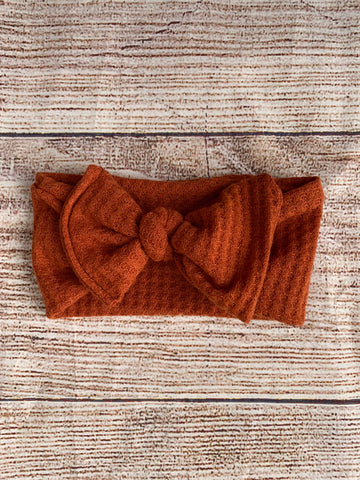 Rust knot bow headwrap