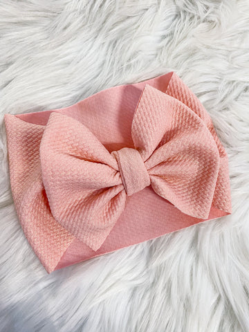 Pink shimmer headwrap