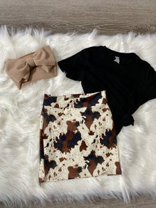 cow print pencil skirt
