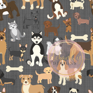 dogs gray background bummies