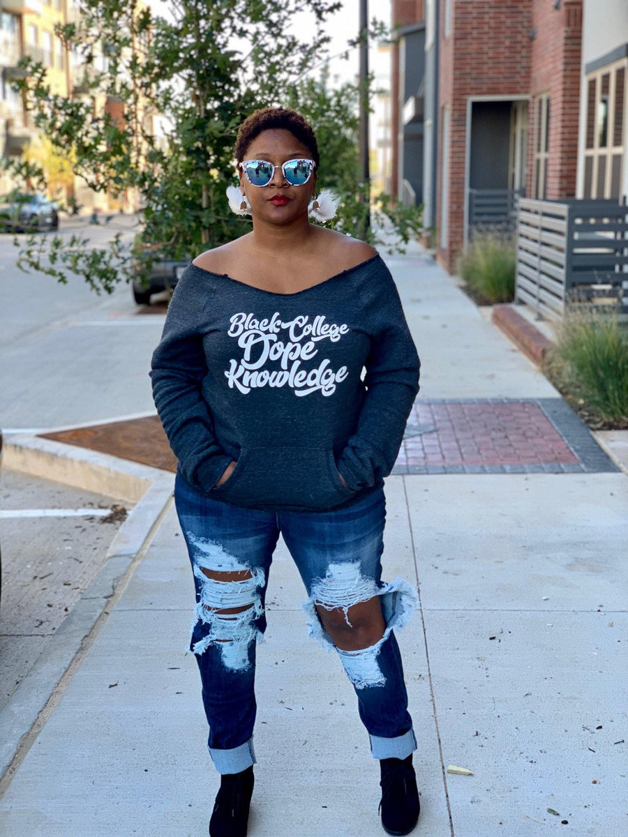 Black College Dope Knowledge Sweatshirt - Personally She