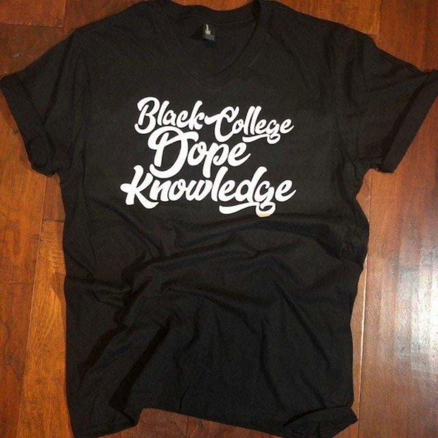 Black College Dope Knowledge T-shirt
