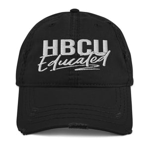 HBCU Educated Distressed Dad Hat
