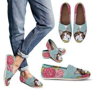 Custom Floral Pet Shoes