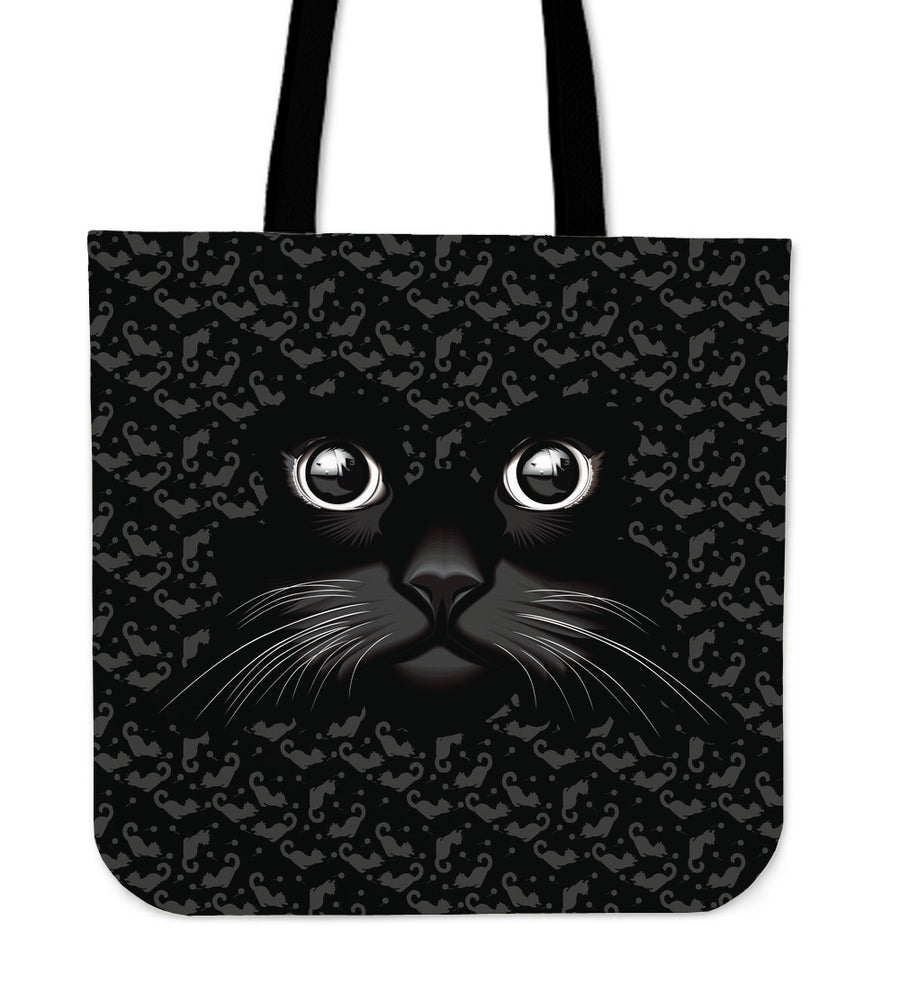 Black Cat Linen Tote