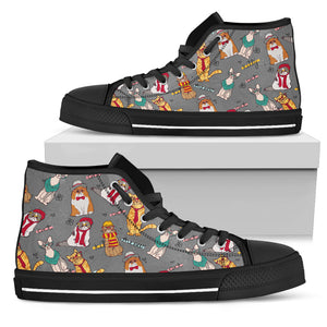 Cool Hipster Cats Shoes