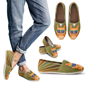 Retro Cats Casual Shoes
