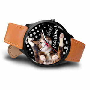 Rexie Cat Stay Pawsitive Watch
