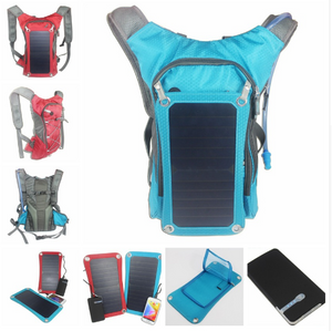 Outdoor Solar Backpack with Water Bag