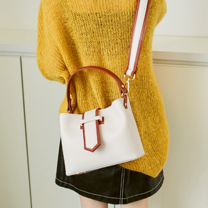 Contrast Trim Shoulder Bag