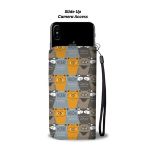 Cat Group Wallet Phone Case