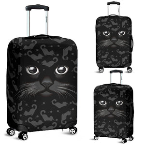 Black Cat Luggage Cover