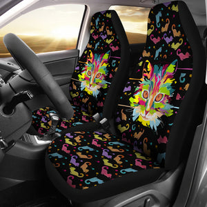 Fierce Cat Seat Cover