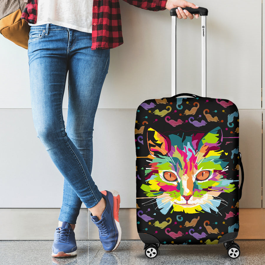 Fierce Cat Luggage Cover