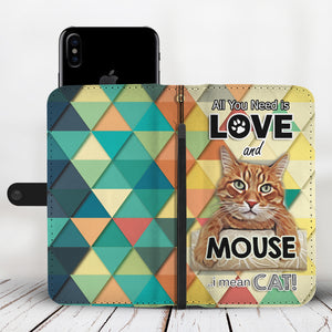 Mouse The Cat Wallet Phone Case