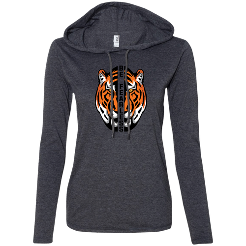 Orange Tiger Ladies LS T-Shirt Hoodie