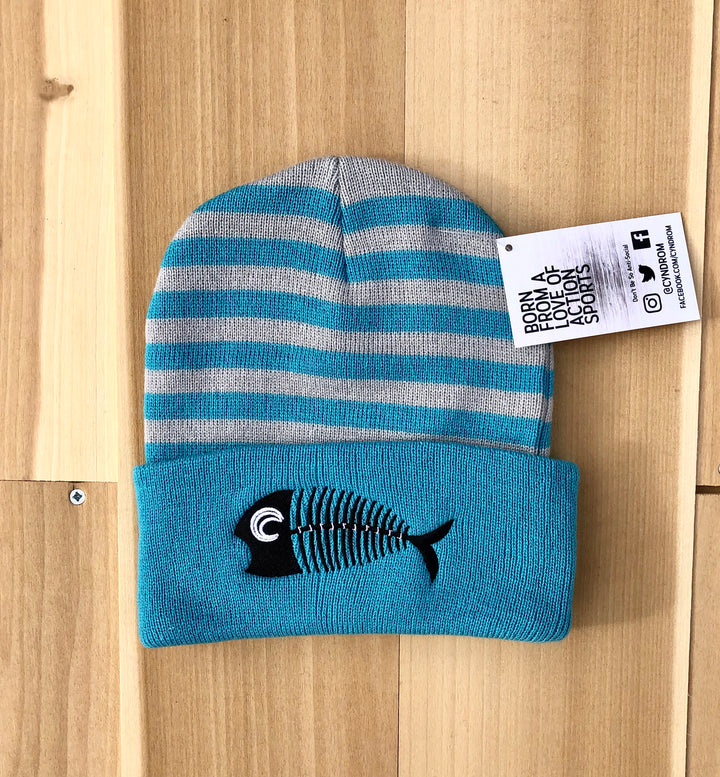 Stale Fish Striped Beanie