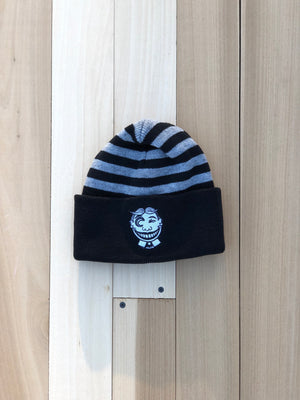 """Can't Find the Copyright"" Striped Beanie"