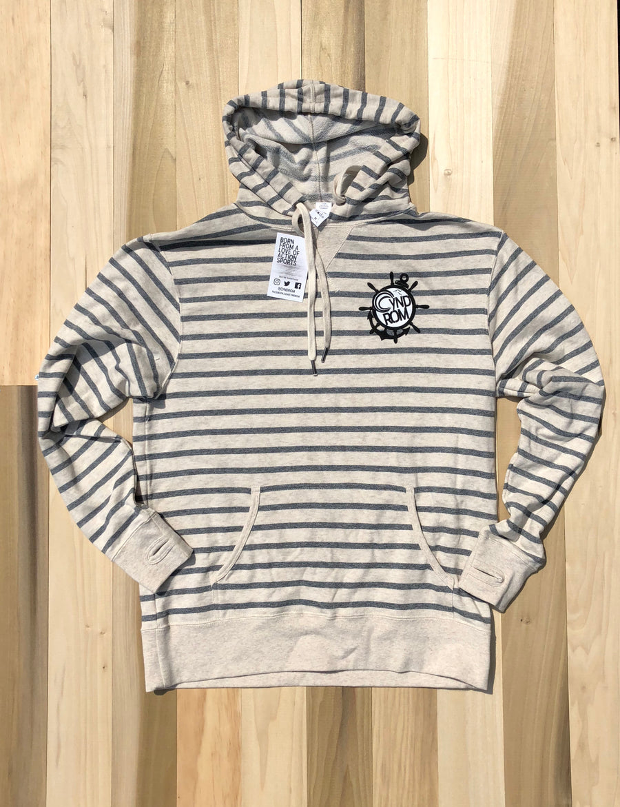 Anchor Wheel Striped Hoodie