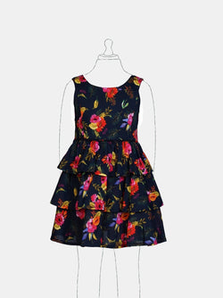 Pretty Blooms (Navy) Navy - Robby Rabbit Girls