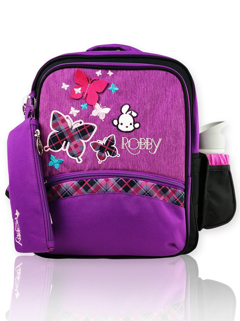 Playful Butterfly - 14in Backpack (Purple)  - Robby Rabbit Girls