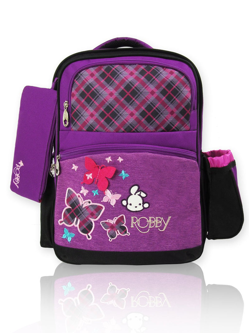 Playful Butterfly - 16in Backpack (Purple)  - Robby Rabbit Girls